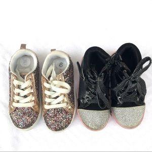 Girls fancy glittery sneakers 9